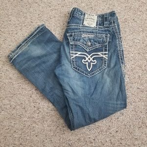 Mens Rock Revival Fabio Boot Boot Jeans Size 34